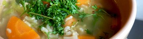 Reis-Gemüse-Suppe