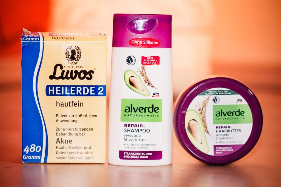 Luvos Heilerde und Alverde Hair Repair-Serie